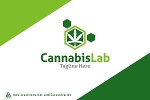 Cannabis Lab logo template