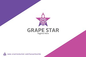 Grape Star Logo Template