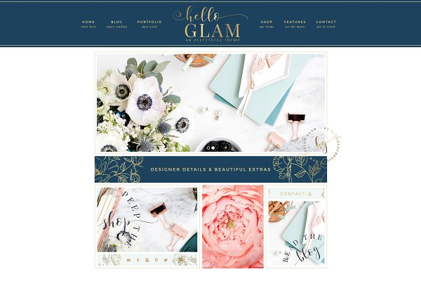 WordPress Business Themes: Hello You Designs - Hello Glam - WordPress Genesis