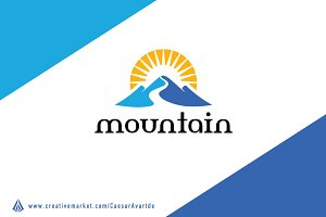 Mountain Way Logo Template