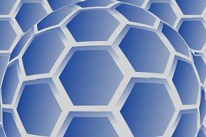 Convex hexagon background