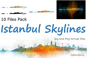 10x files Pack Istanbul Skylines
