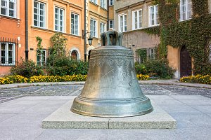 Bell on Kanonia Square in Warsaw