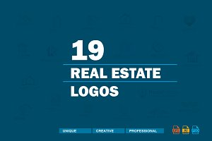 19 Real Estate Logos Bundle