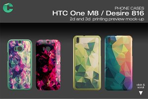 HTC one M8 / Desire 816 Mock-up