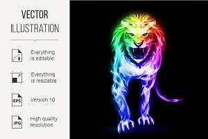 Spectrum fire lion