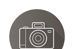 Photo camera icon. Vector