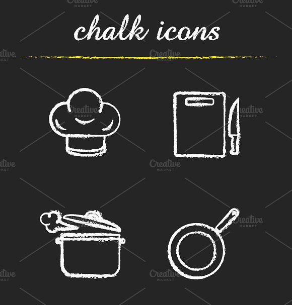 Kitchenware. 4 icons. Vector - Icons
