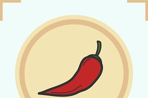 Red hot chili pepper icon. Vector