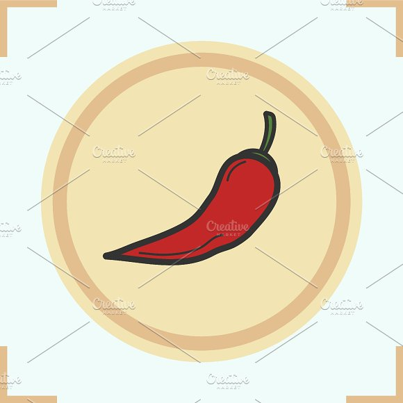 Red hot chili pepper icon. Vector - Icons