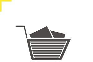 Shopping cart icon. Vector