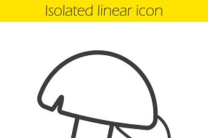 Mushrooms linear icon. Vector