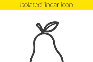 Pear linear icon. Vector