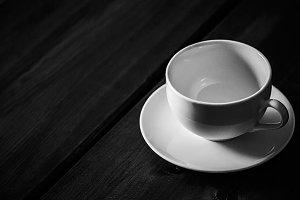 Coffee Cup in b&w
