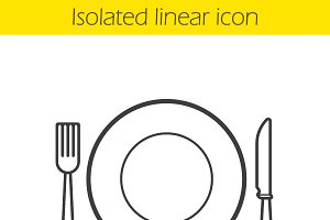 Eatery linear icon. Vector