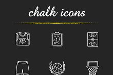 Basketball. 9 icons set. Vector