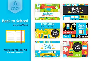 Back to School Horizontal Labels