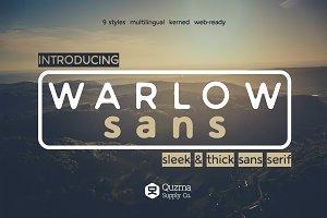 Warlow Sans - 25% off