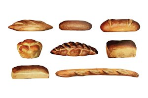 Vector Breads Illustration Pack