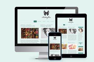 Butterflies Blogging Theme