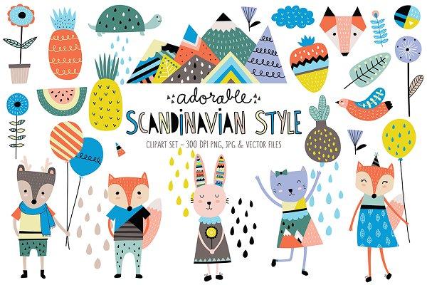 Cute Scandinavian Animals & Designs