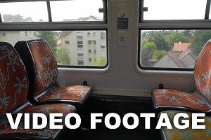 Empty seats in commuter train