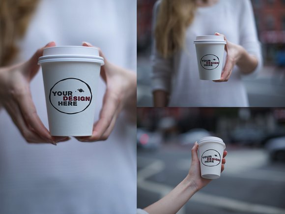 Download Set of 3 paper cup mockups