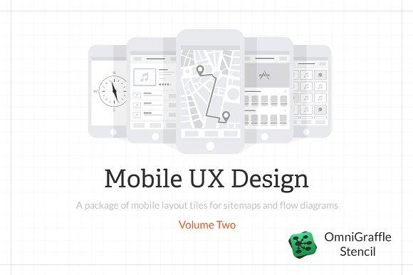 Mobile ux design tiles v2 product mockups creative market ccuart Images