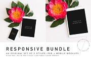 Floral Mobile Responsive Mockup