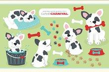 French Bulldog Puppy Illustrations