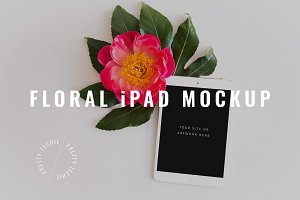 Floral iPad Mockup