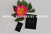 Floral iPhone iPad Responsive Mockup
