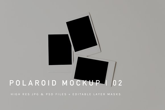 Download Polaroid Pile Mockup | JPG & PSD