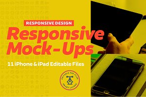 Responsive iPhone iPad Mock-Up Pack