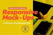 Responsive iPhone iPad Mock-Up Pack