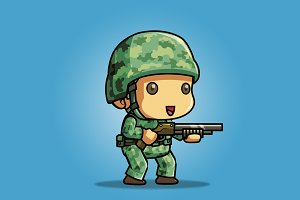 Tiny U.S Soldier