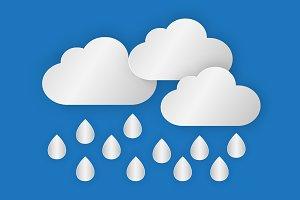 A cloud with rain drop over the sea