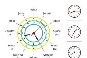 Telling time vector illustration