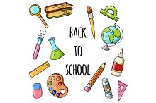 Back to school vector and pattern