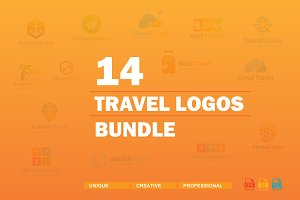 14 Travel Logos Bundle