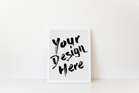 Simple White Frame Mockup 8x10 ~ Product Mockups ~ Creative Market