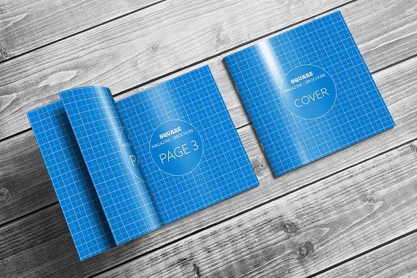 Square Magazine / Brochure Mock-Ups