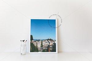 White 8x10 Frame Mockup