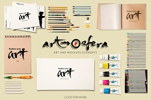 Art Equipments and Art Mock-Ups