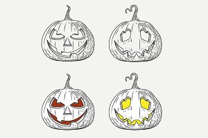 Vector of Halloween Pumpkin