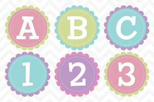 Clip Art Scalloped Alphabet Vector
