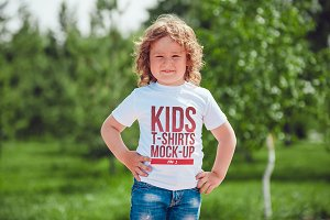 Kids T-Shirt Mock-Up Vol 1