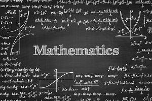 Mathematics school vector set