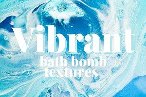 Vibrant Bath Bomb Textures