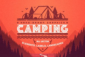 Camping Elements and Landscapes.